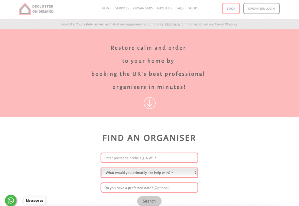 Decluttering and organising services